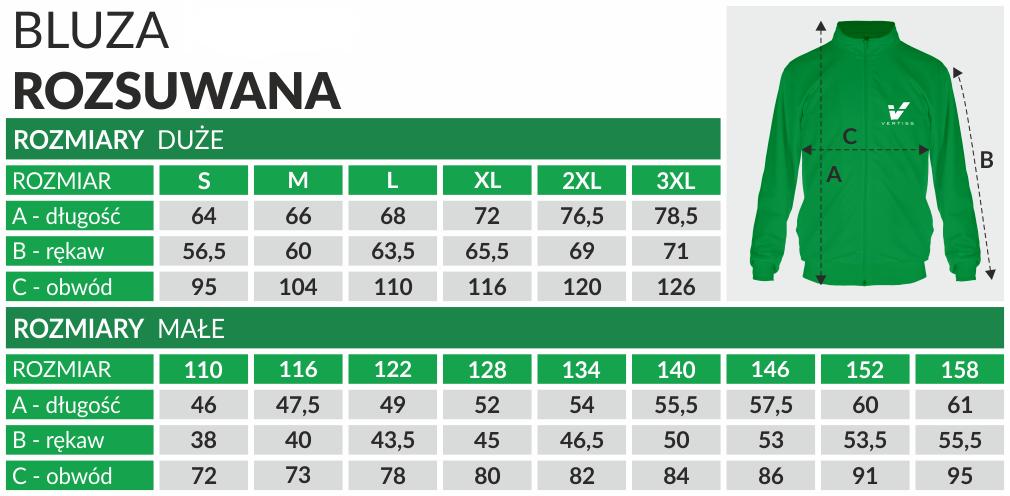 tabela_BLUZA MĘSKA ROZSUWANA