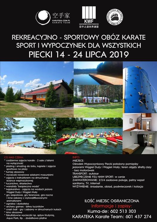 Shotokan lato 2019 PLAKAT mały