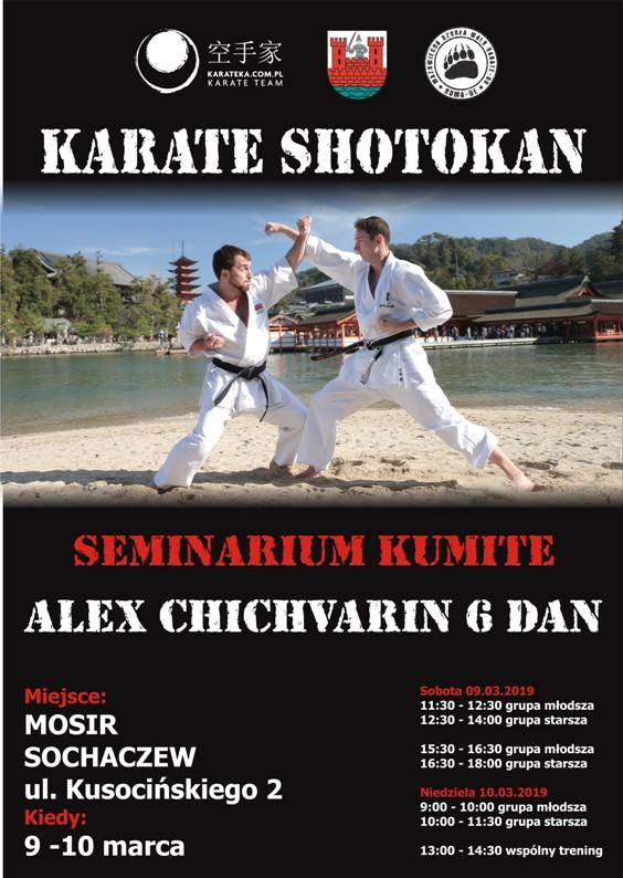 Shotokan seminarium plakat 9-10 marca mniejszy