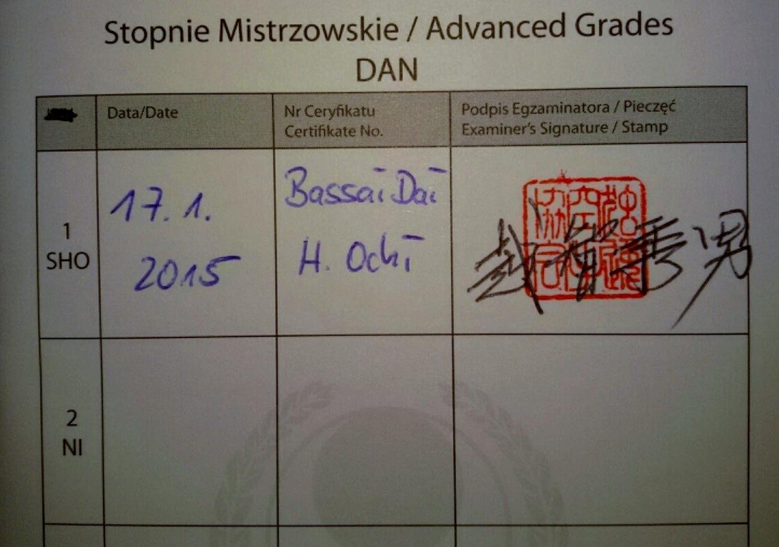 Pierwszy czarny pas w Dojo Milanówek
